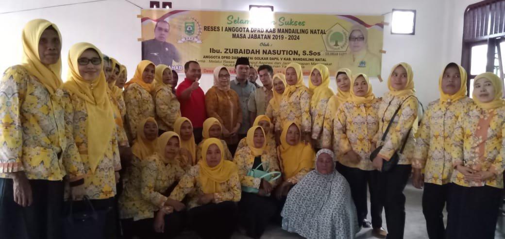 Anggota DPRD Madina, Zubaidah Reses Pertama di Nagajuang