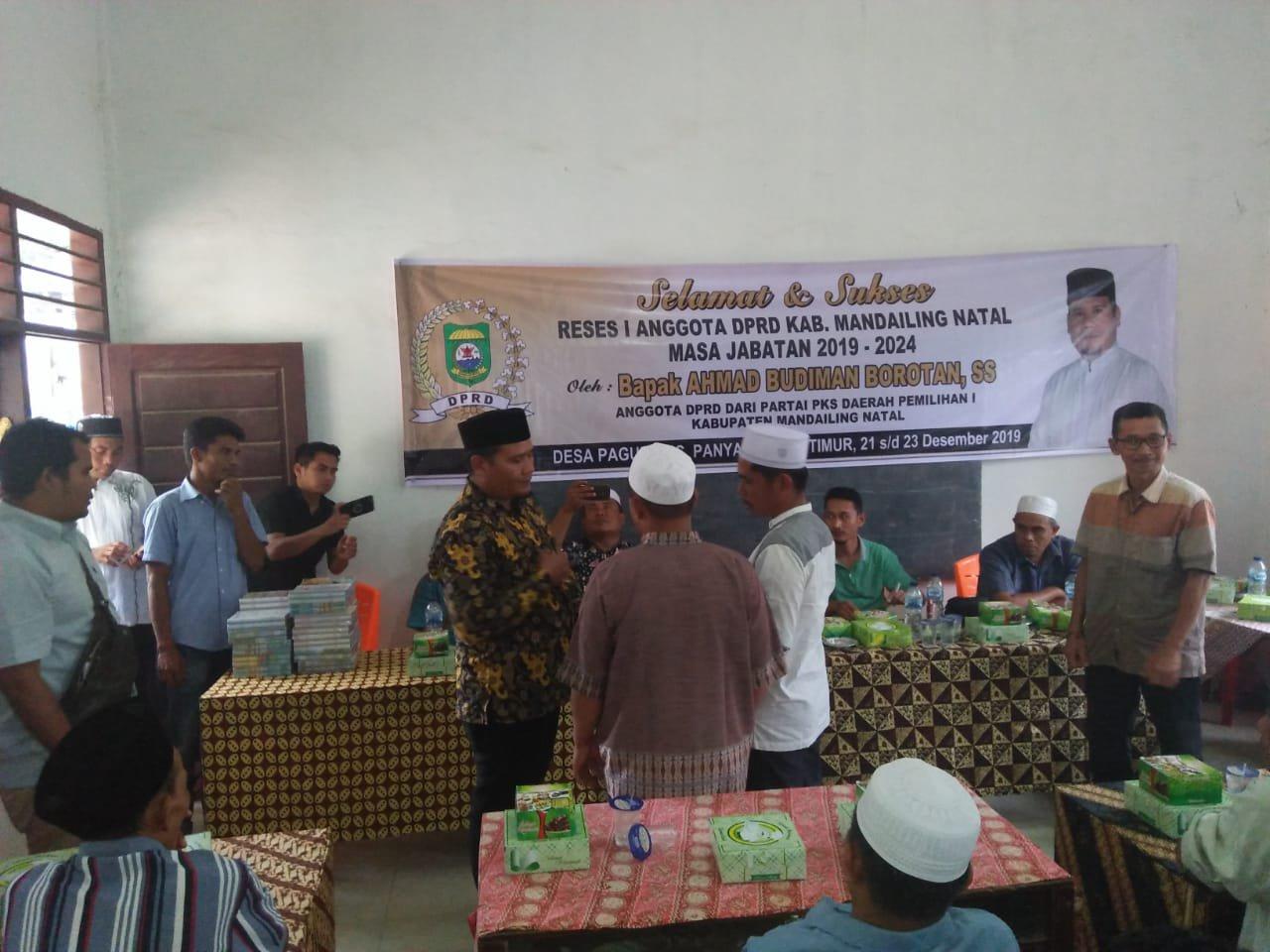 Anggota DPRD Madina, Budiman Borotan Reses di Panyabungan Timur