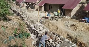 Pembangunan Rumah Relokasi Korban Bencana  Muara Saladi Belum Tuntas