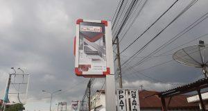 Tak Kantongi Izin, Reklame Neon Box Rokok Berdiri Kokoh di Panyabungan