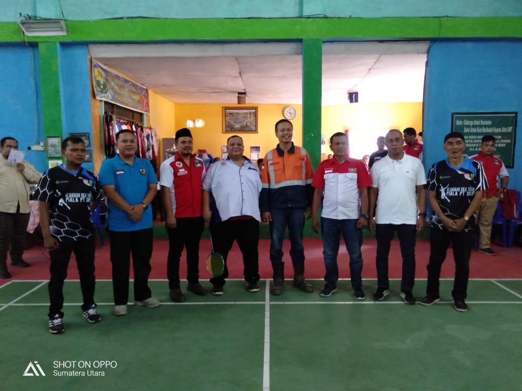 Perkuat Olahraga Madina, PT. SMGP Buka Turnamen Bulu Tangkis