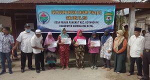 Penyaluran BLT-DD di 34 Desa di Kecamatan Kotanopan Tuntas