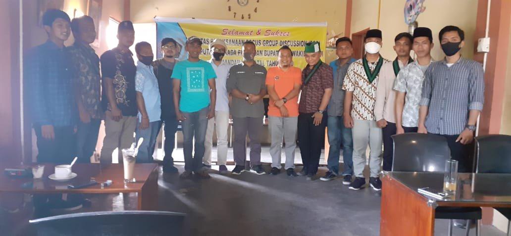 FGD PWI Bersama Mahasiswa Diskusi Kondisi Pilkada Madina 2020