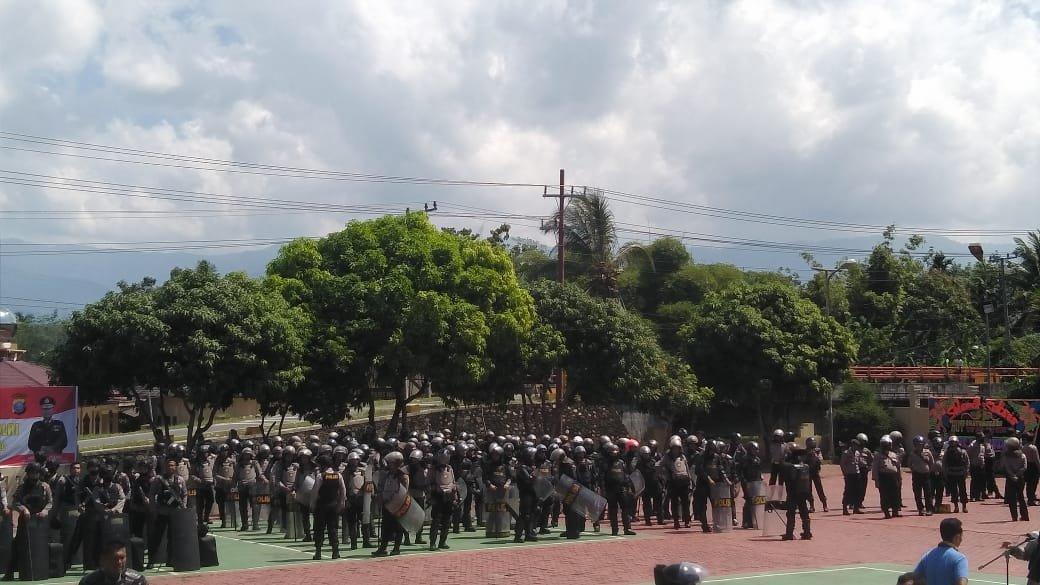 Brimob dan Shabara Polres Madina Mulai Bersiap