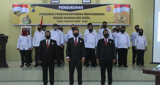 Kapolres Madina Kukuhkan Pokdar Kamtibmas Bhayangkara