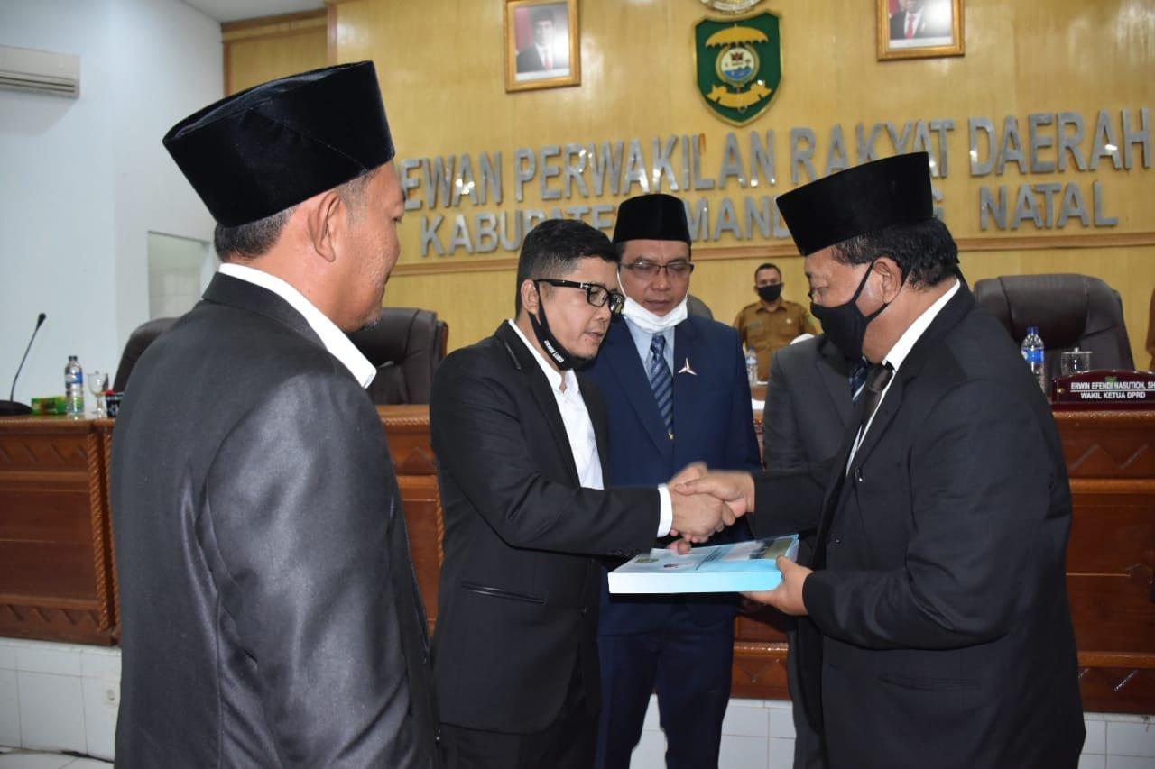 Paripurna DPRD Madina, Bupati Sampaikan Nota Pengantar LKPj 2019