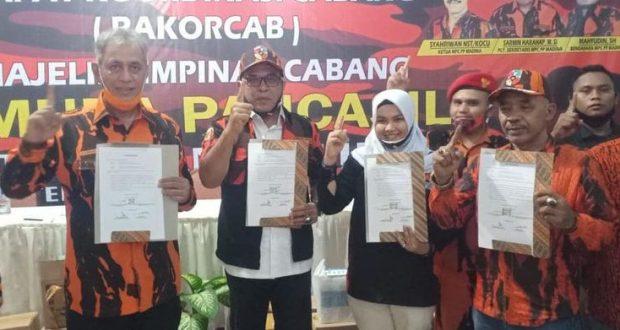 Disaksikan Ketua MPW, Pemuda Pancasila Madina Siap Menangkan SUKA