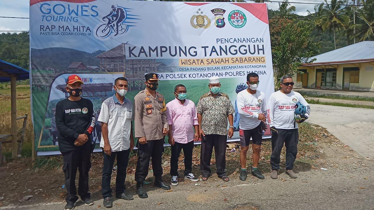Kapolres Madina Canangkan Kampung Tangguh di Kotanopan