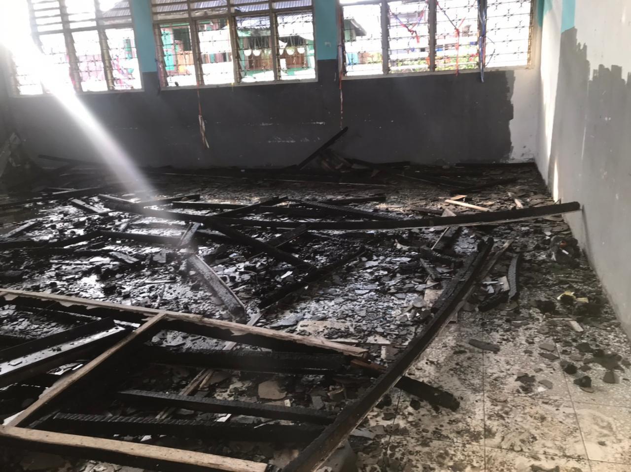 Kebakaran Gedung Sekolah di Maga Lombang, Kerugian Capai Ratusan Juta