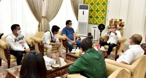 Bahas Masalah PSMS, Aktor Rizky Billar dan Influencer Putra Siregar Temui Gubernur Sumut
