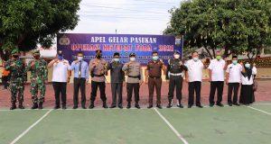 TNI/POLRI dan Pemkab Madina Laksanakan Apel Gelar Pasukan Pengamanan Idul Fitri