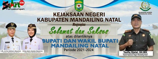 UCAPAN KEJAKSAAN NEGERI MADINA- PELANTIKAN BUPATI DAN WAKIL BUPATI 2021-2024
