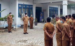Apel di Dinkes Madina, Sukhairi Pompa Semangat Nakes yang Terpukul