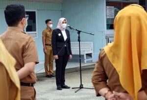 Pimpin Apel di RSUD Panyabungan, Atika Paparkan Penanganan Covid-19 di Madina